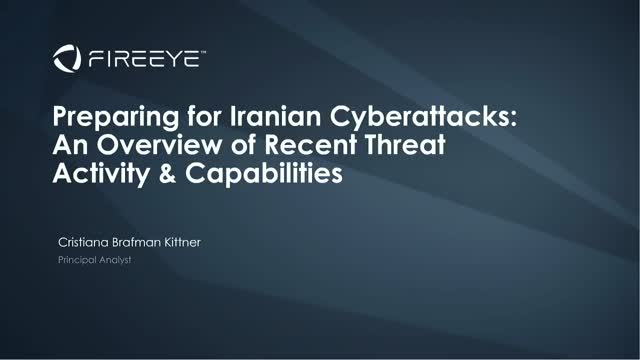 Preparing for Iranian Cyber Attacks: An Overview of Recent Threat Activities