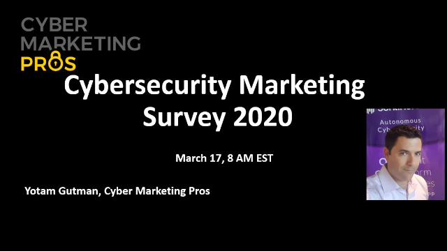 Cybersecurity Marketing Survey 2020- the results