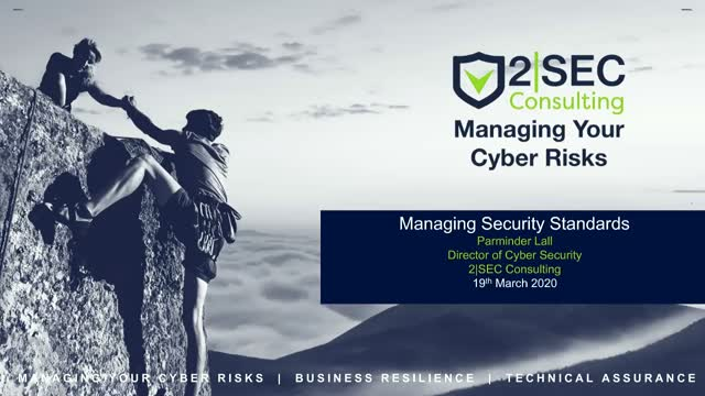 Managing Security Standards