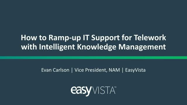 How to Ramp-up IT Support for Telework with Intelligent Knowledge Management