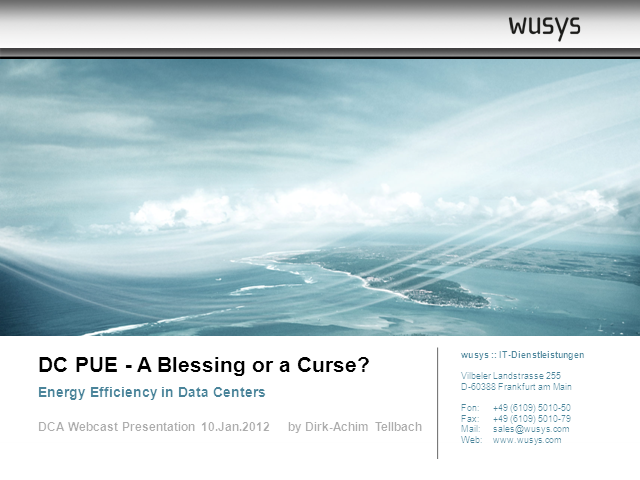 Data Centre PUE: A Blessing or a Curse?