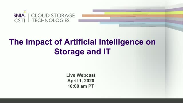 The Impact of Artificial Intelligence on Storage and IT