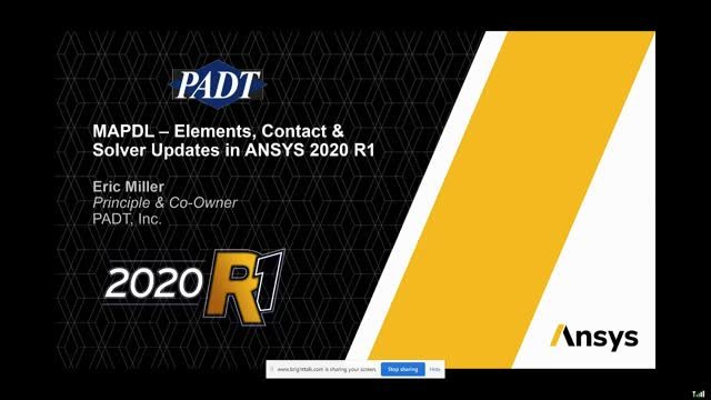 MAPDL – Elements, Contact & Solver Updates in Ansys 2020 R1