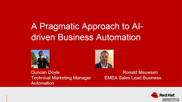 A pragmatic approach to AI-driven business automation