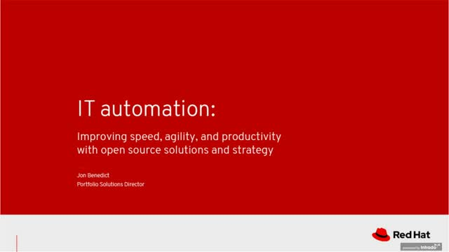 IT automation: Improving productivity with open source solutions and strategy