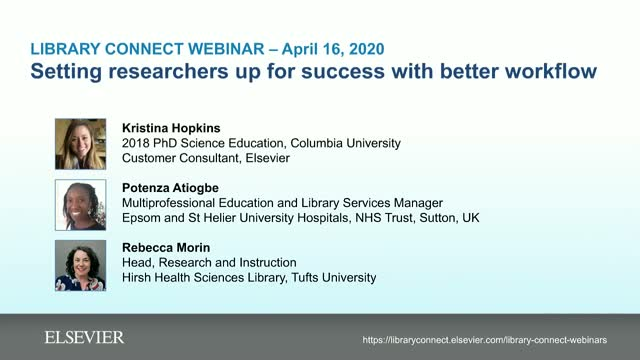Setting researchers up for success with better workflow (inc. remotely)
