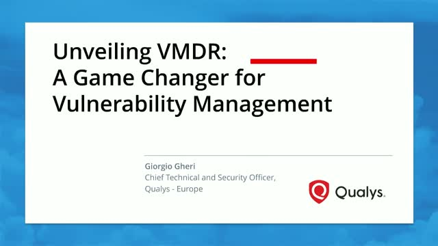 The Next Generation of Vulnerability Management