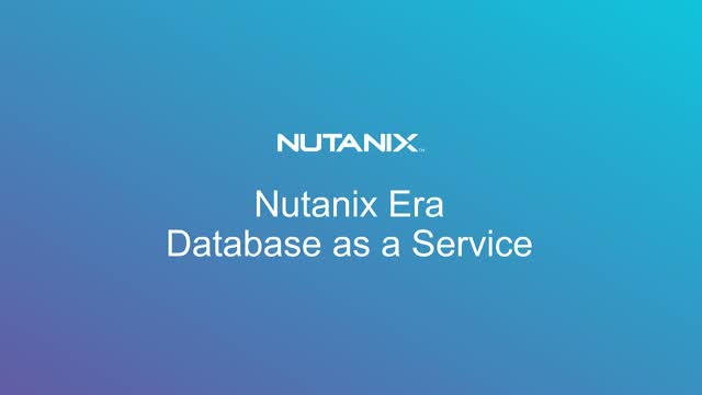 Elevate your Database with Nutanix Era - One Click Database Operations