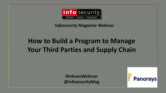 How to Build a Program to Manage Your Third Parties and Supply Chain