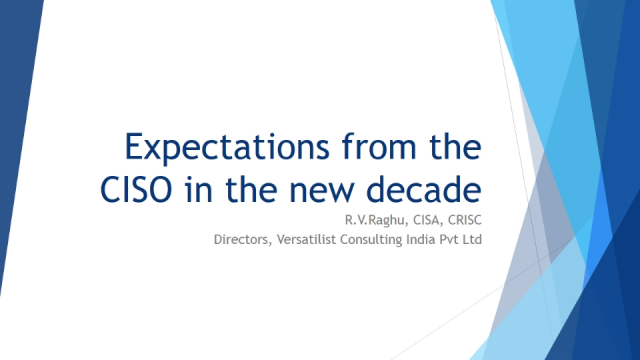 Expectation from the CISO in the new decade