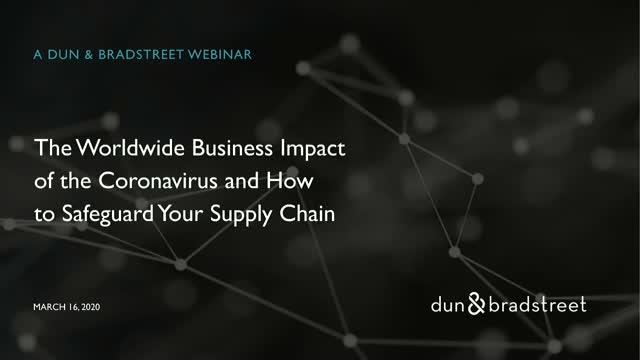 The Business Impact of the Coronavirus and How to Safeguard Your Supply Chain