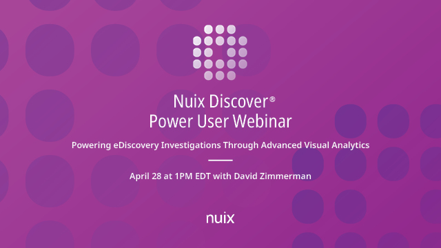 Powering eDiscovery Investigations Through Advanced Visual Analytics