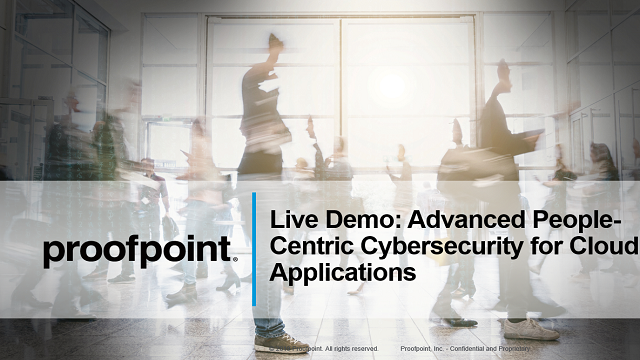 Live Demo: Advanced People-Centric Cybersecurity for Cloud Applications