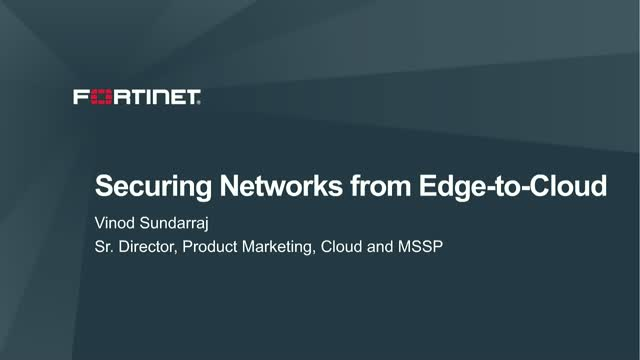 Securing Networks from Edge-to-Cloud