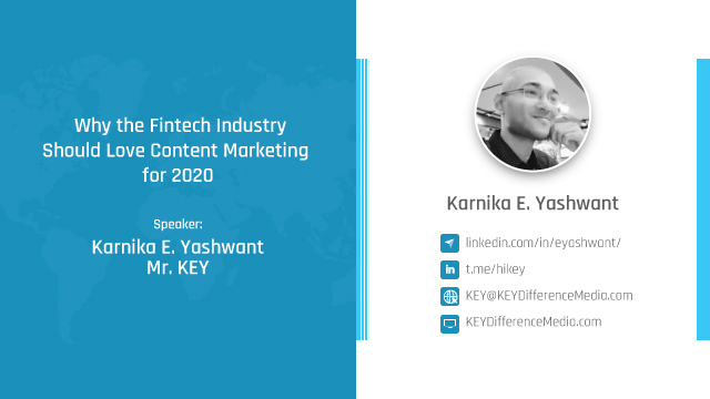 Why the Fintech Industry should love Content Marketing for 2020