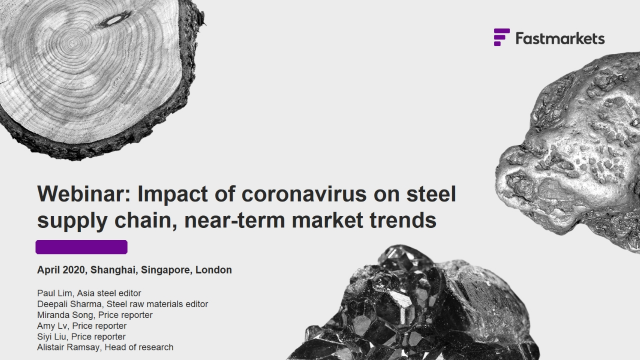 The impact of the coronavirus outbreak on the steel supply chain