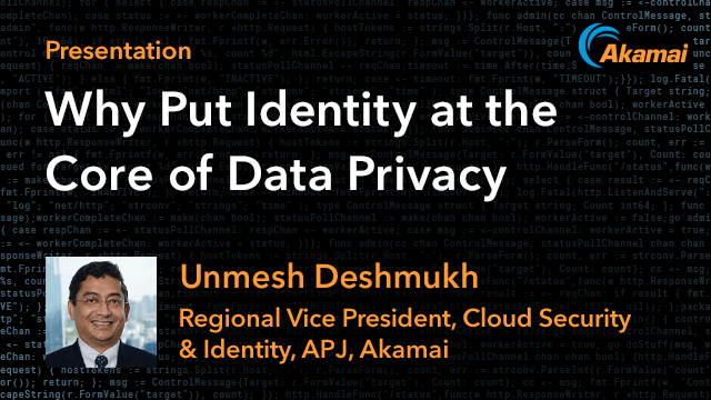 Why Put Identity at the Core of Data Privacy