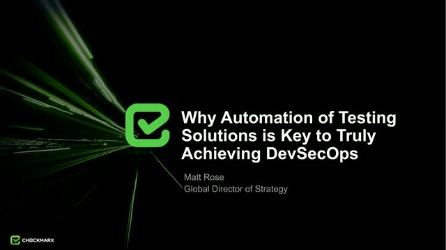 Why Automation of AST Solutions is the Key to DevSecOps