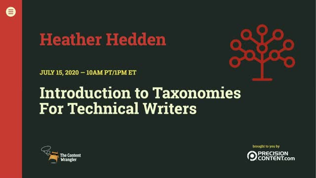 Introduction to Taxonomies for Technical Writers