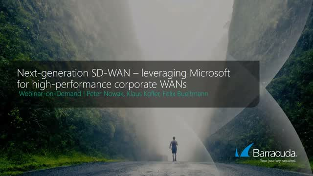 Leveraging Microsoft for high-performance corporate WAN