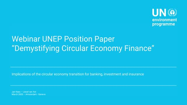 Introduction to Financing a Circular Economy