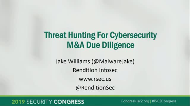 Threat Hunting for M&A Cyber Due Diligence