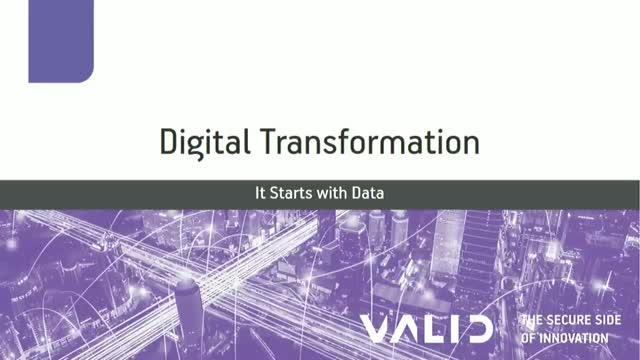 Digital Transformation: It Starts with Data