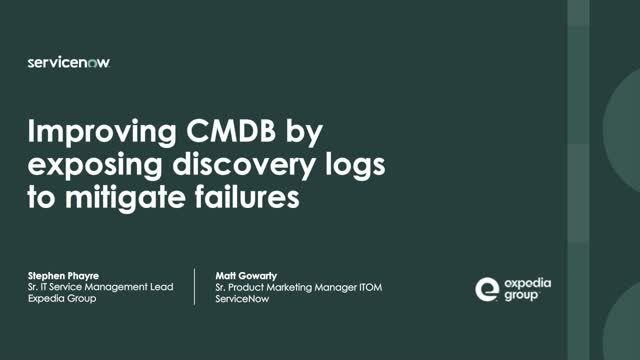 How Expedia Group improved Discovery and CMDB by exposing logs