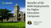 Benefits of SD-WAN Deployments on Higher Ed Campuses