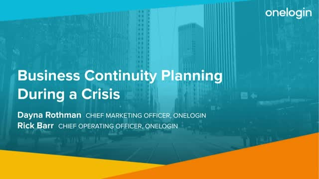 Business Continuity Planning During a Crisis