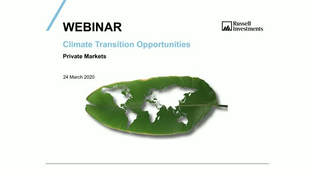 Discovering private market opportunities within the climate transition