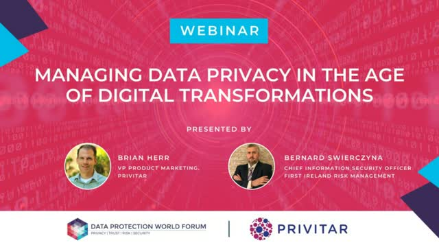 Managing Data Privacy in the Age of Digital Transformation