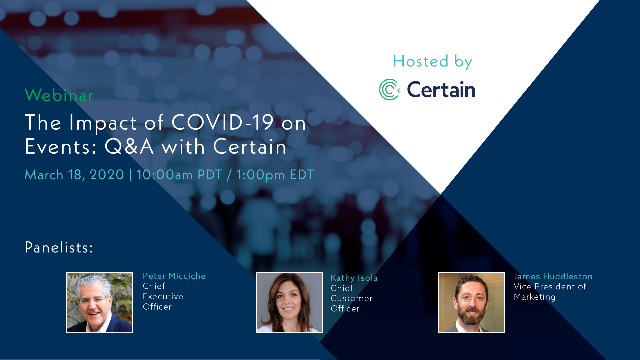 The Impact of COVID-19 on Events: Q&A with Certain