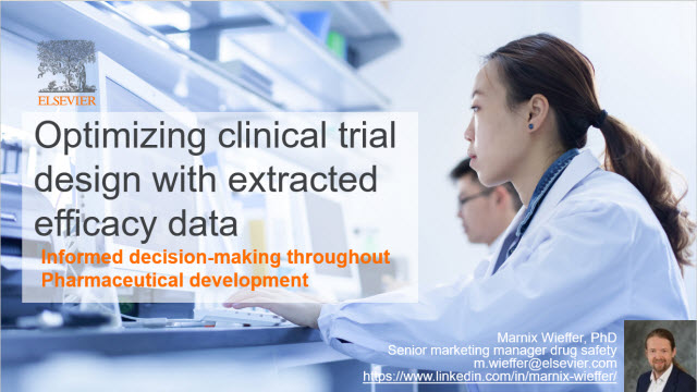 Optimizing clinical trial design with extracted efficacy data