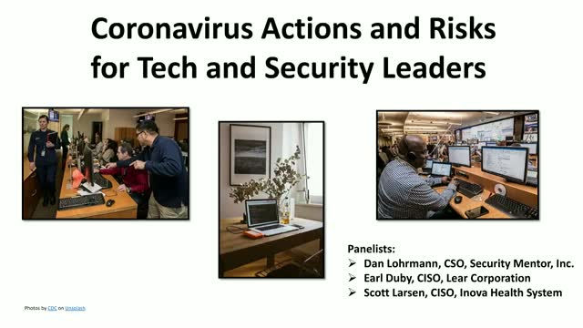 Coronavirus Actions and Risks for Tech and Security Leaders