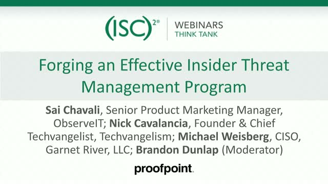 Forging an Effective Insider Threat Management Program
