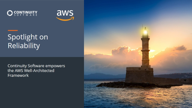 Spotlight on Reliability: Continuity Empowers the AWS Well-Architected Framework