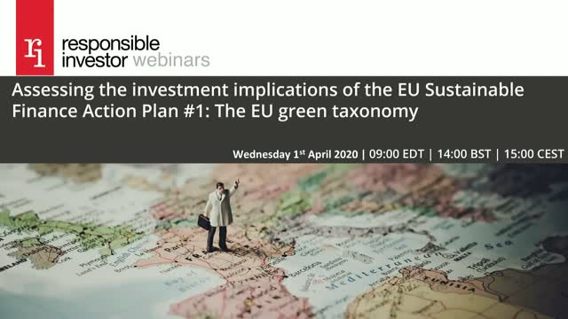 EU Action Plan Series #1: The investment implications of the EU green taxonomy