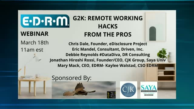 G2K: REMOTE WORKING HACKS FROM THE PROS- Q & A