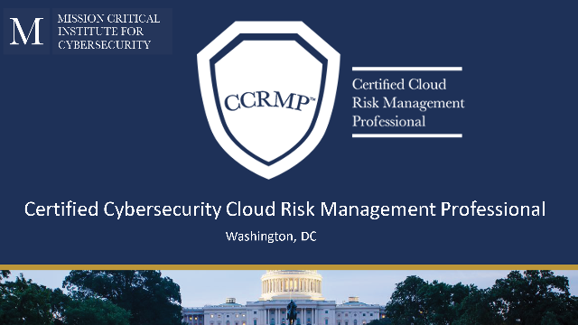 CCRMP - Cloud Risk Management - Earn Four Certs in One (8570/8140 Compliancy)
