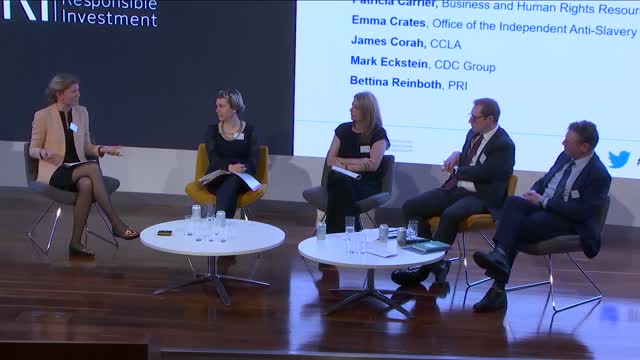 PRI London Forum - Finance Against Modern Slavery and Human Trafficking