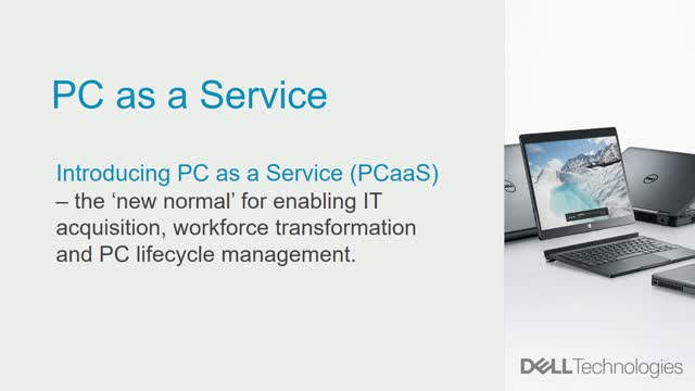 Simplify PC lifecycle management with PC as a Service
