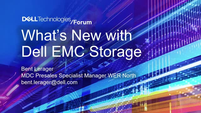 What is new in Dell Technologies high-end storage?