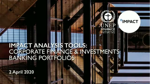Launch of UNEP FI Impact Analysis Tools (PM)