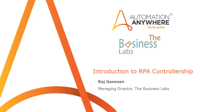 Introduction to RPA Controllership