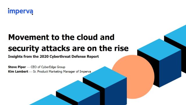 Movement to the cloud and security attacks are on the rise