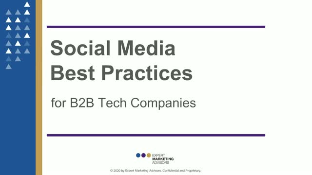 Social Media Best Practices for B2B Tech Companies