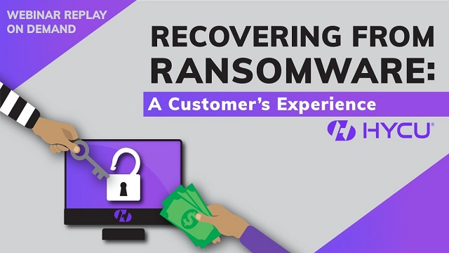 Recovering from Ransomware: A Customer's Experience