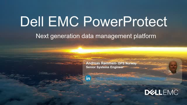 Oslo Forum - Dell Technologies PowerProtect