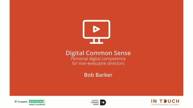 Digital Common Sense - Personal Digital Competence for Non-Executive Directors